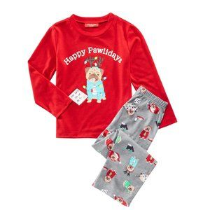 NWT Family Pajamas Kids' Matching Pawlidays PJ Set